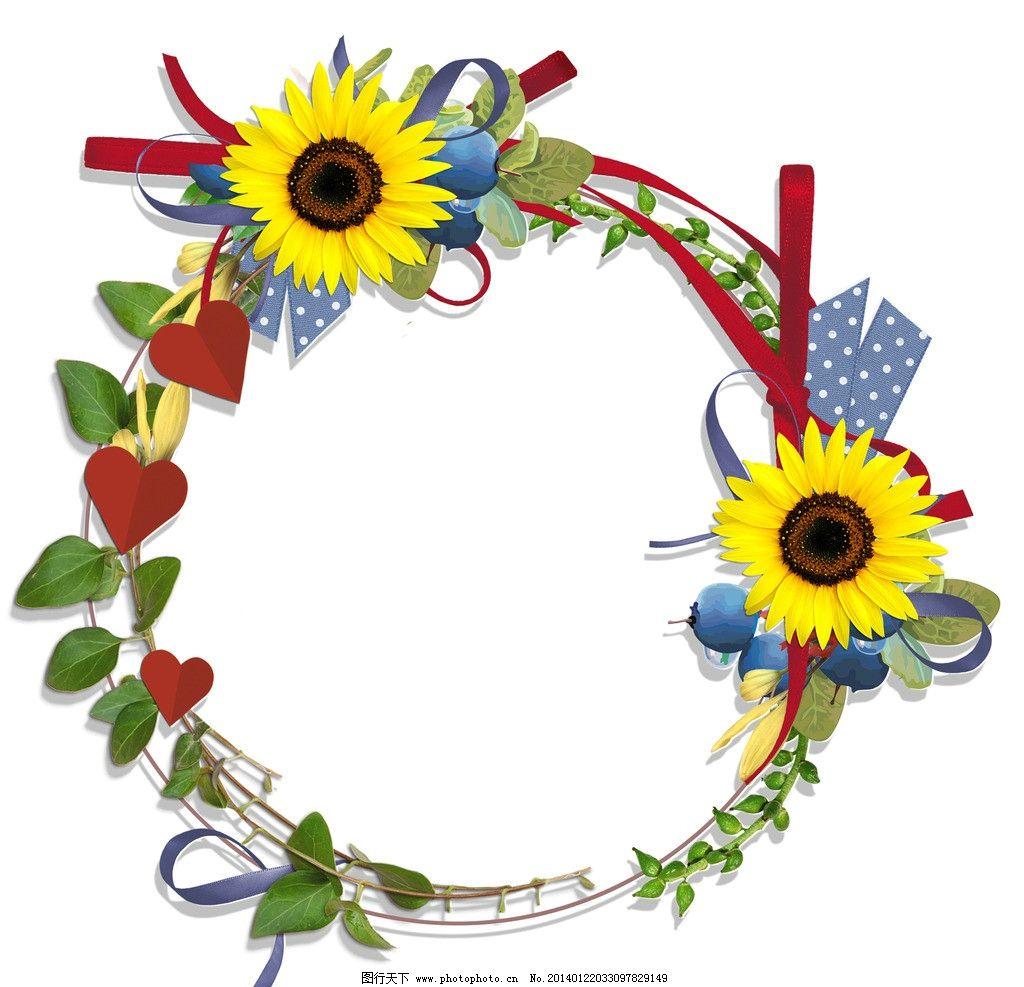 欧式古典花环设计元素