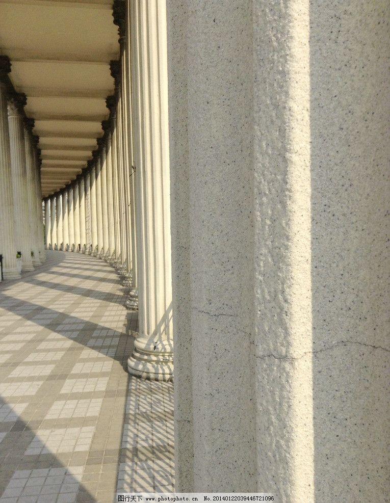 罗马柱走廊 罗马柱 石柱长廊 古典 欧式 废墟 雕刻 艺术 文化广场