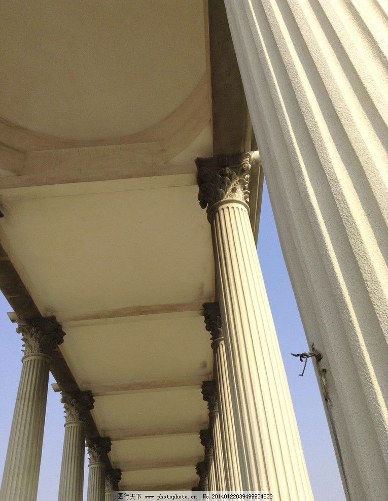 罗马柱 石柱长廊 古典 欧式 废墟 雕刻 艺术 文化广场 建筑摄影 建筑
