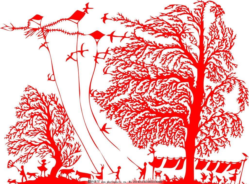 剪纸 春天风景剪纸 剪纸艺术