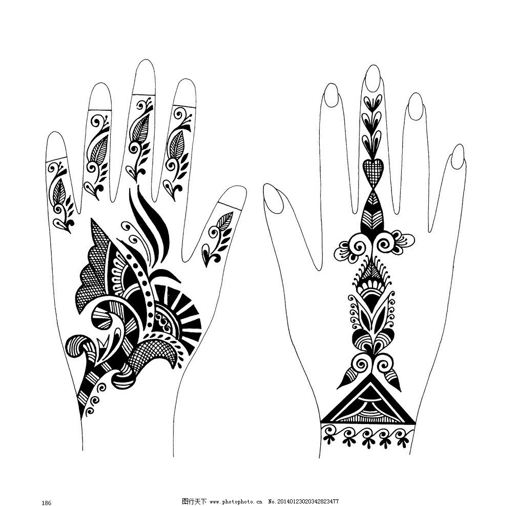 印度花纹 黑白 绘画 花边 花纹 花边花纹 底纹边框 设计 600dpi jpg
