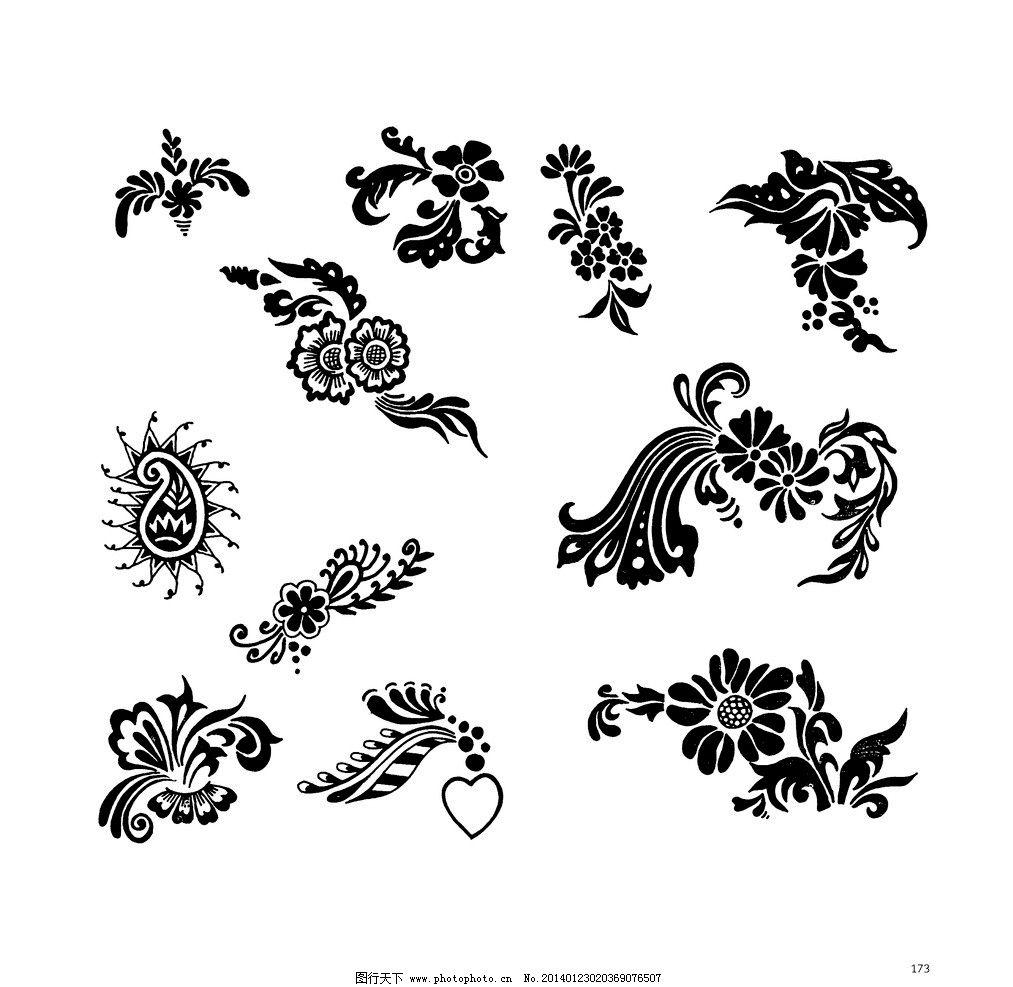 印度花纹 哈萨克斯坦 文化 纹身 卷草 纹样