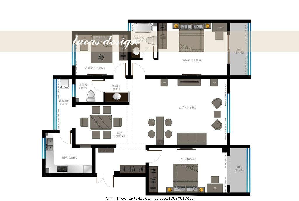 室内设计平面图 平面图 室内设计 ai eps 矢量图 建筑家居 矢量