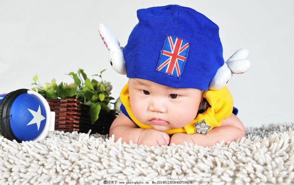 宝宝百天照 男宝 婴儿百天照 男婴 可爱宝宝 儿童幼儿 人物图库 摄影