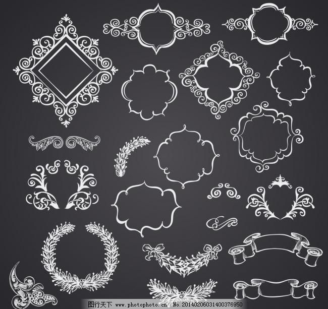 标签 菜单 传统花纹 底纹边框 古典 古典花纹 贵族 欧式花纹矢量素材