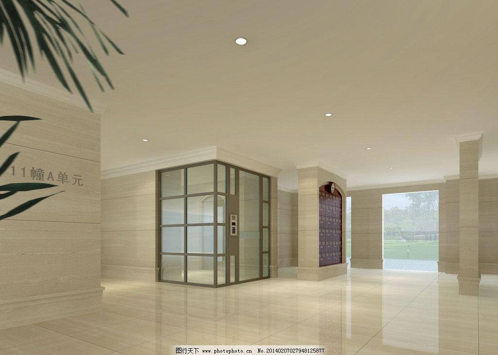 设计图库 环境设计 室内设计  小区入口 门厅 门厅效果图 大厅 大厅