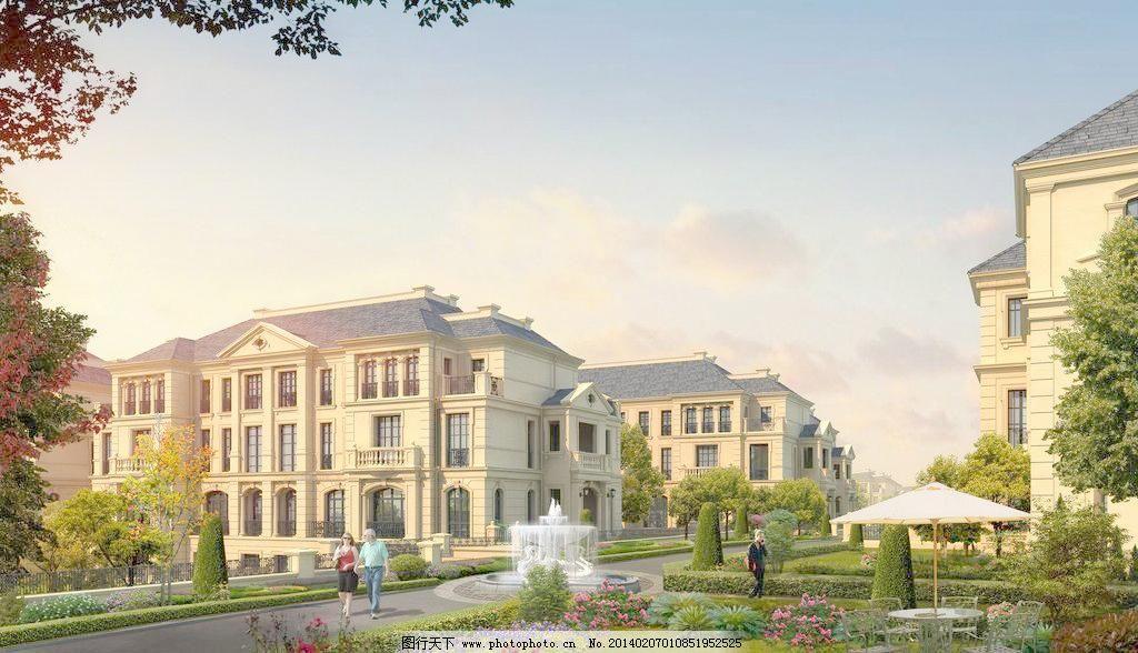 法式花园别墅图片