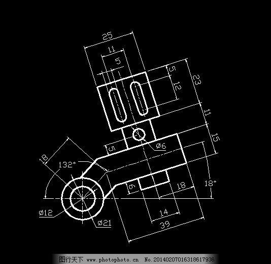 机械cad施工图 零件图纸 机件剖面 平面制图 设计图稿