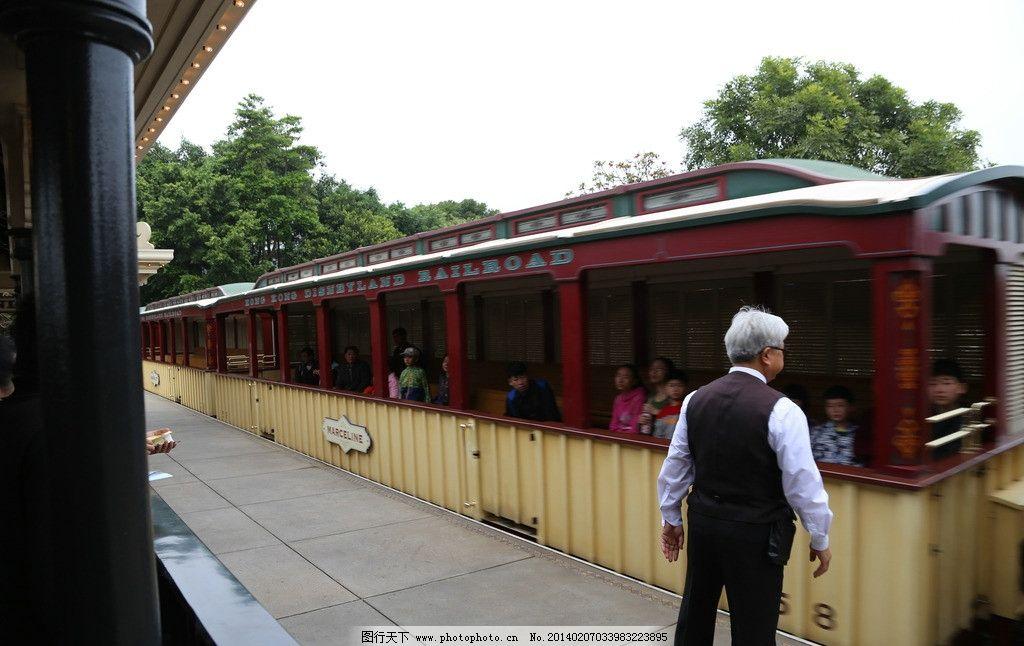 hk迪斯尼小火车站台图片