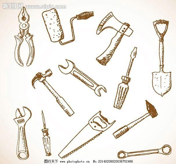 网页小图标  工具设计 工具 签字 锤子 扳手 斧子 标志 图标设计 标志