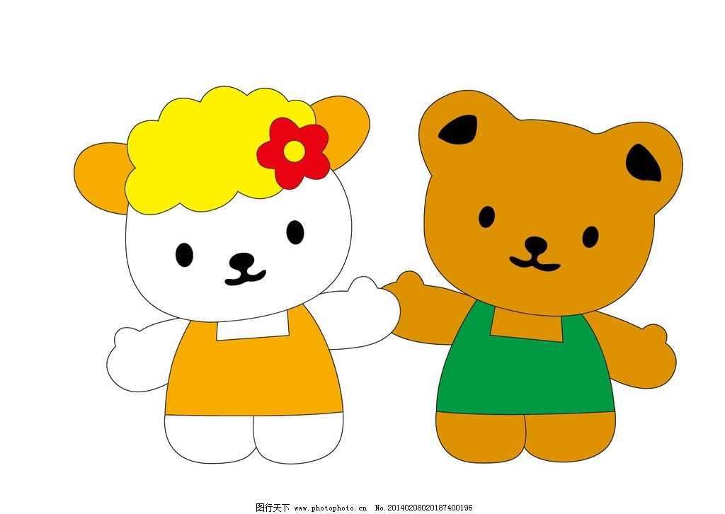 熊 卡通小熊 服装设计 图案 英文字母 烫钻 彩钻 贴布绣 可爱动物