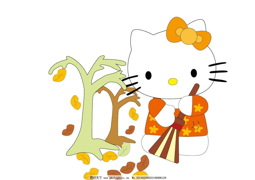 kitty猫 猫 小猫 卡通猫 服装设计 图案 英文字母 烫钻