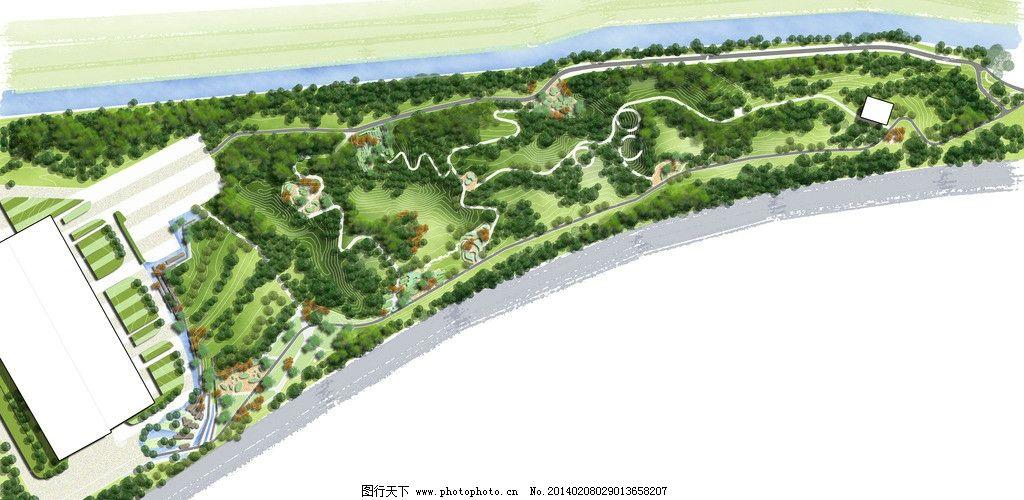 公园景观设计平面图 公园