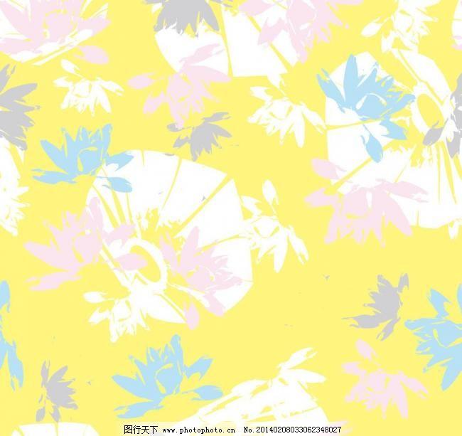 卡通抽象花朵花纹底纹图片