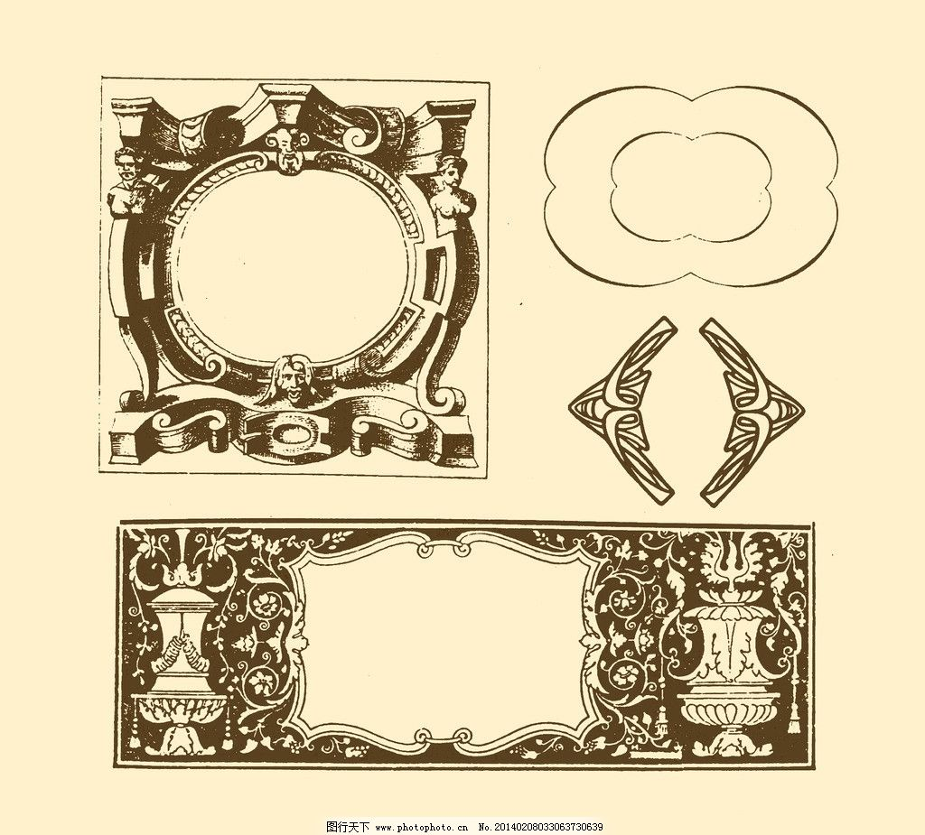 边框 边线 外框 花边 框线 装饰 非矢量 复古 欧式 浮雕 画框 边框