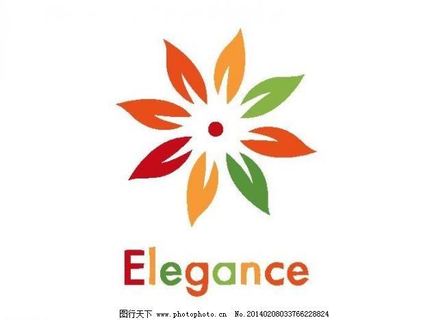 花卉logo图片_logo设计_psd分层_图行天下图库