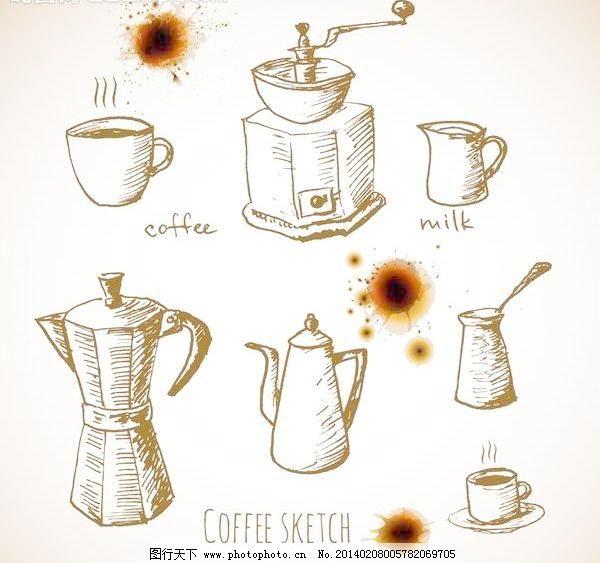 咖啡壶图片_日常生活_矢量图_图行天下图库