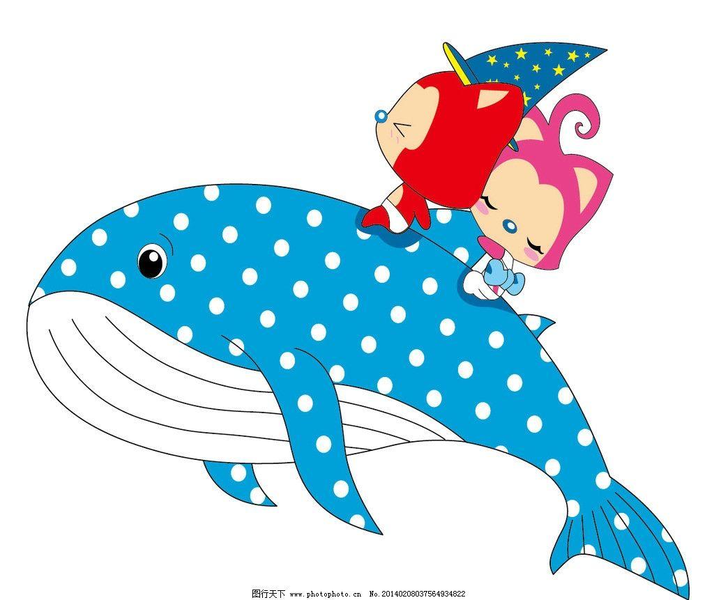 阿狸 鲨鱼 鲸鱼 海洋世界 阿狸猫 卡通 红色阿狸 可爱动物 可爱 儿童