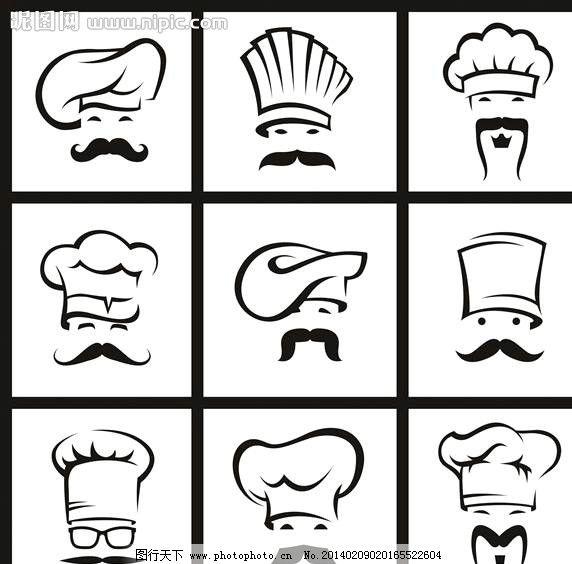 饭店图标 餐饮图标 菜谱图标 图标设计 标志设计 logo设计 欧式标志