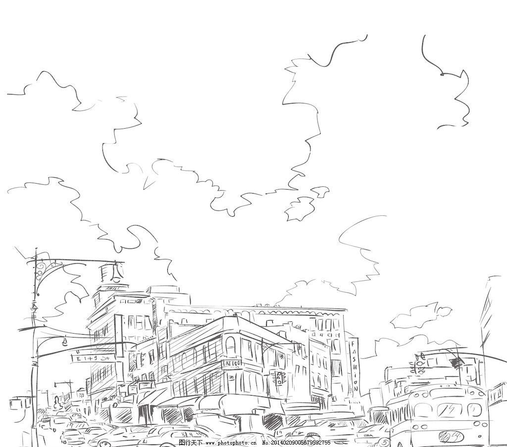 速写 城市速写 卡通 卡通画 卡通封面 本本封面 儿童插画 广告设计