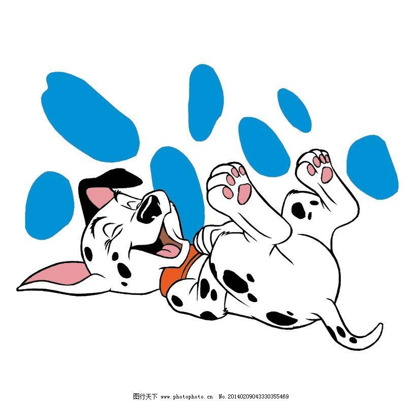 斑点狗 狗 狗狗 花狗 小狗 花 可爱 卡通 卡通动物 儿童插画 儿童图集