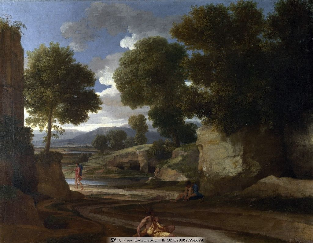 风景油画 普桑油画 古典油画 西洋画 高清油画 绘画 绘画书法 文化