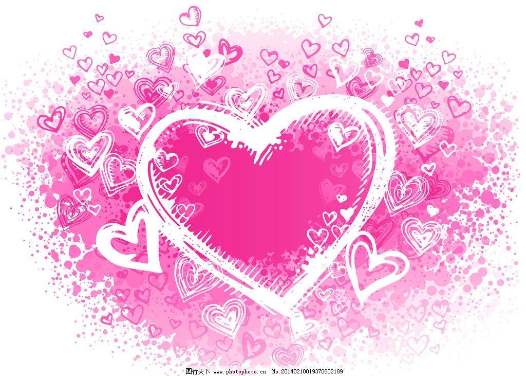 情人节 情人节背景 花纹 手绘 求爱 礼物 礼品 贺卡 七夕 爱情