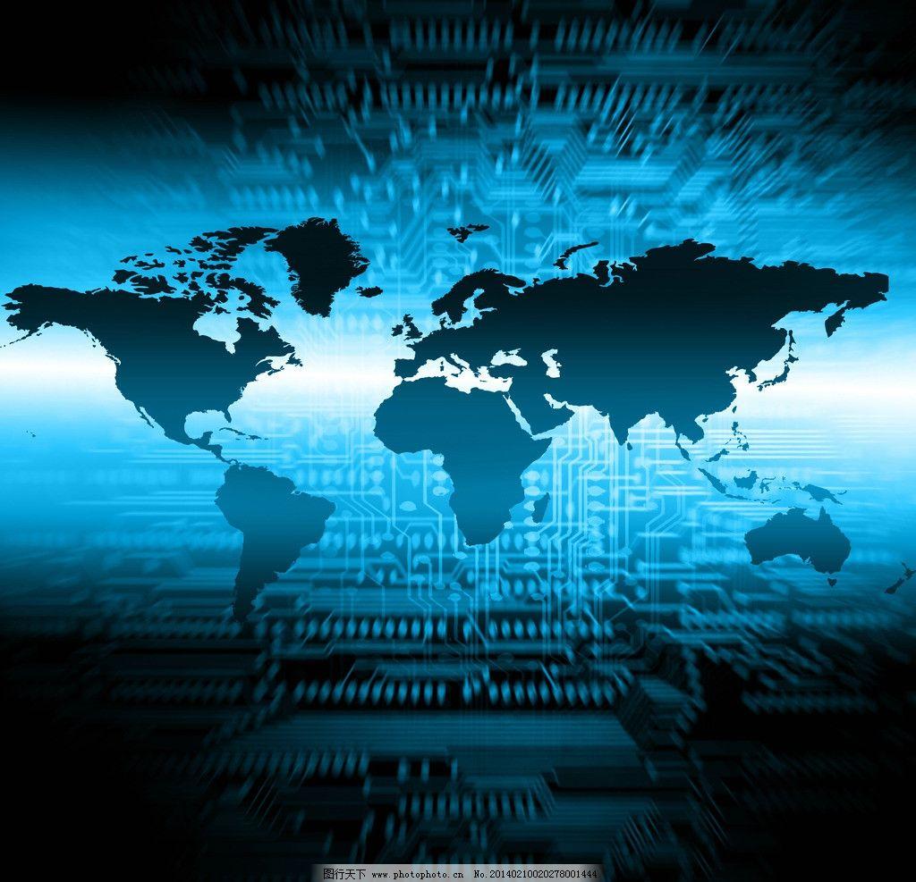 科技背景 科技地球 光线 地球 数字 电路板 地球素材 蓝色地球 环保