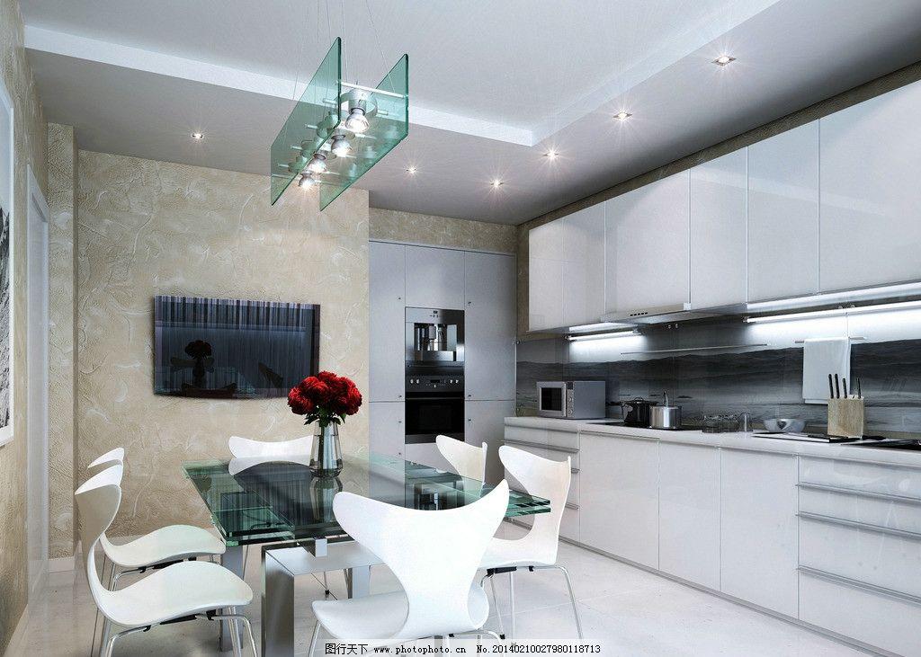 厨房图片,餐桌 油烟机 客厅 一体式厨房 西式厨房-图
