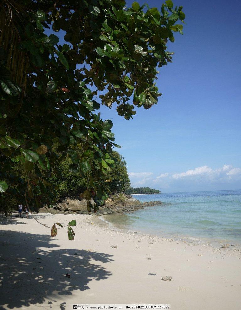 海滩 沙巴 海岛 沙滩 珊瑚砂 海水 太平洋 群岛 海洋 东南亚 游泳