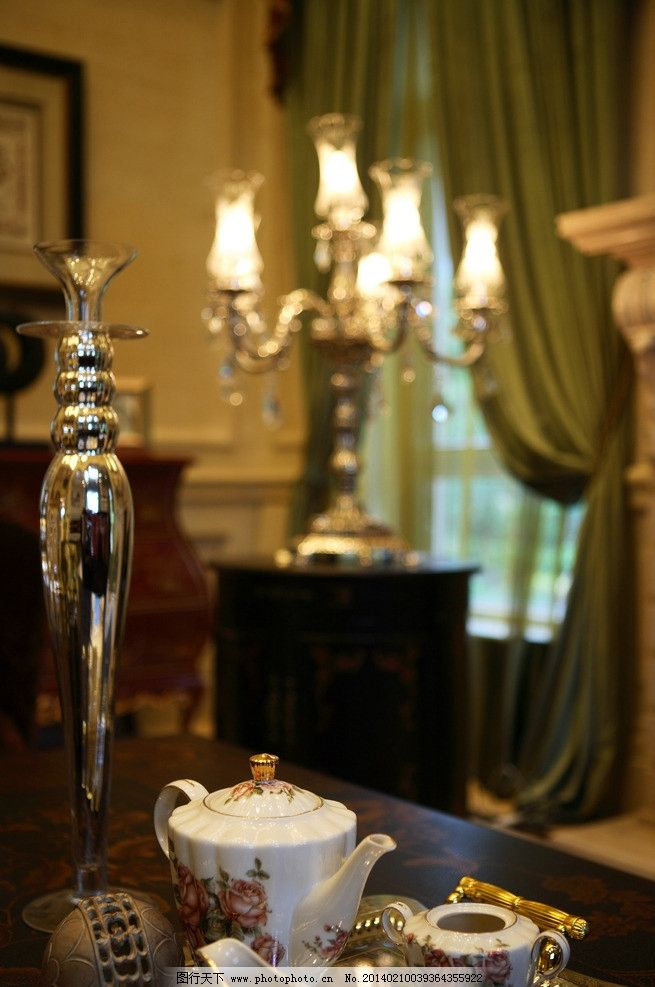 茶杯 茶壶 杯子 功夫茶 烛台 摆设 装饰品 工艺品 艺术品 蜡烛 欧式