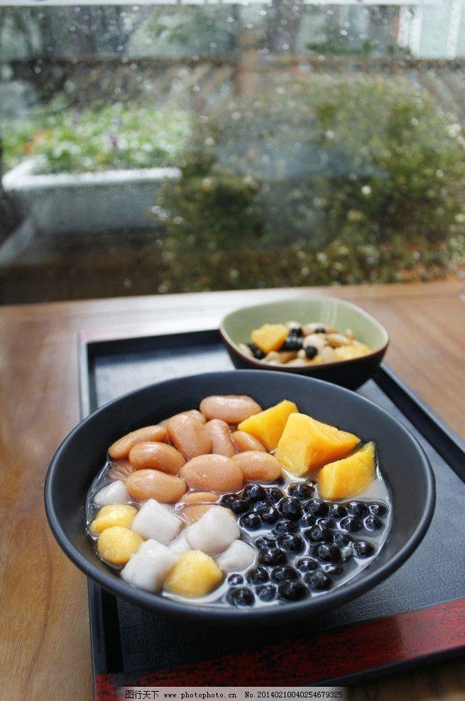 甜品 红豆 珍珠 芋圆 汤 烧仙草 摄影