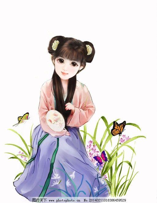 汉服 q版 手绘 艺术 古装 动漫人物 动漫动画 设计 72dpi jpg