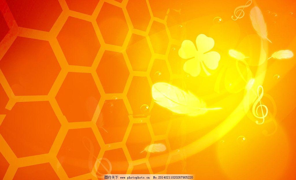 蜂窝黄色背景图片
