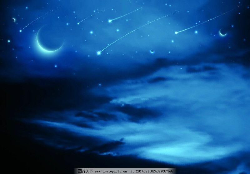 星空 宇宙 星系 星星 唯美 月亮 太空 风景漫画 动漫动画 自然风景