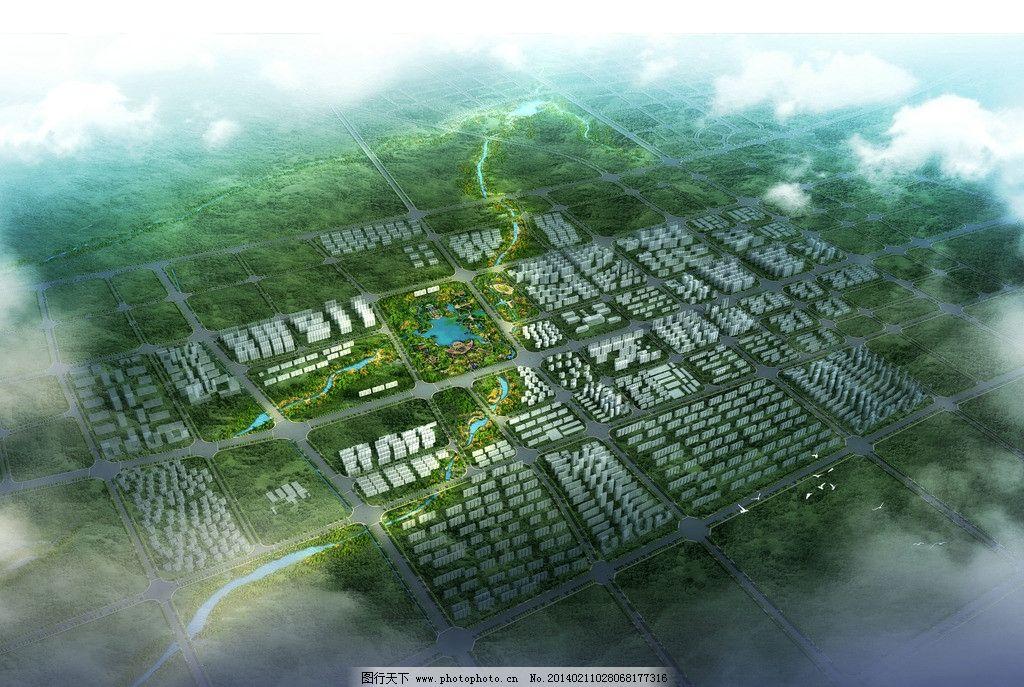 建筑鸟瞰图 太行山 林州 黄华河 鸟瞰图 规划 建筑设计 环境设计 设计