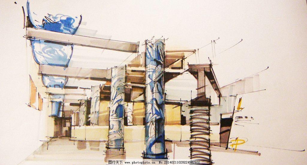 展厅 马克笔 展示 手绘 展览 展厅马克笔手绘表现 展览设计 环境设计