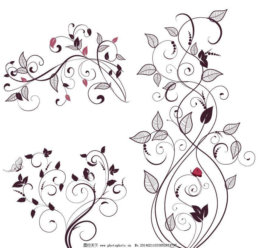 植物花纹 花边 底纹 欧式花纹 漂亮花纹 矢量 矢量图 矢量素材图片