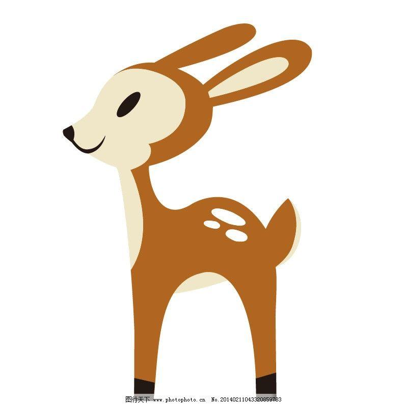 小鹿 鹿 卡通鹿 卡通动物 服装印花 儿童印花 儿童图集 卡通设计 广告