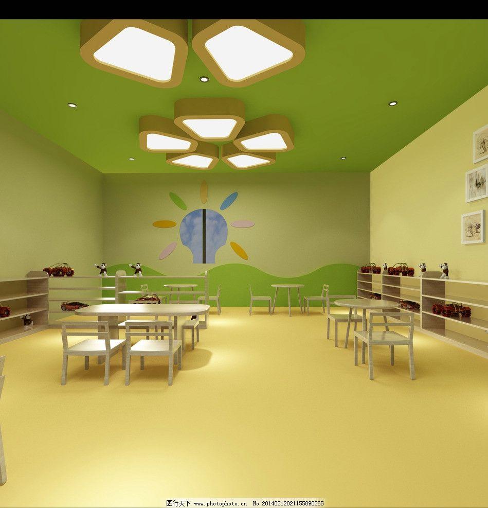 幼兒園 現代 簡約 教室 過道 3d作品 3d設計 設計 72dpi jpg