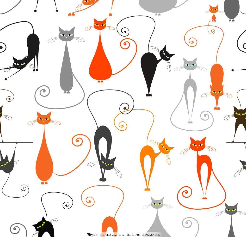 卡通猫图片图片
