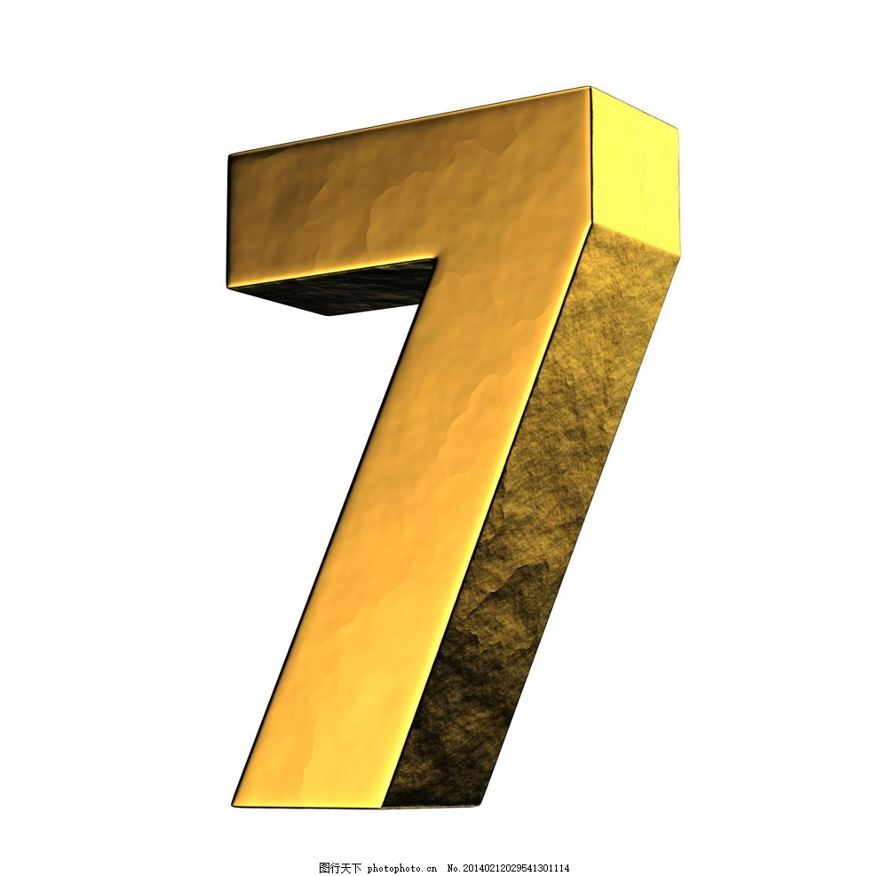 金属数字 质感 金色 时尚 潮流 手绘 装饰 数字主题