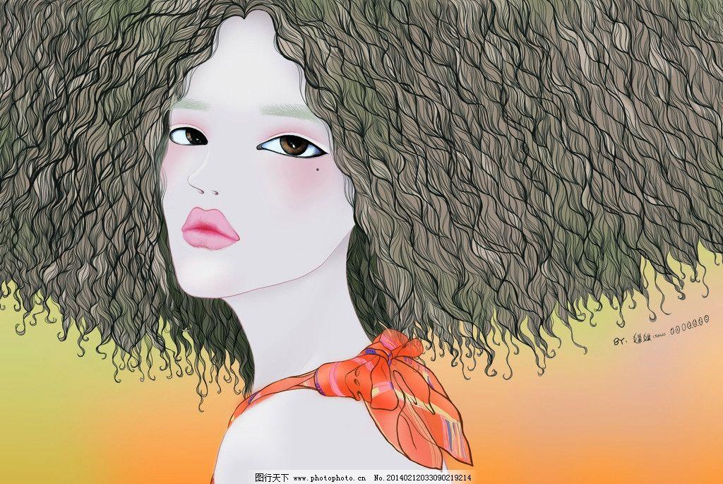 美女图 电脑手绘 回眸 桌面 自画像 肖像 彩妆 人物 源文件