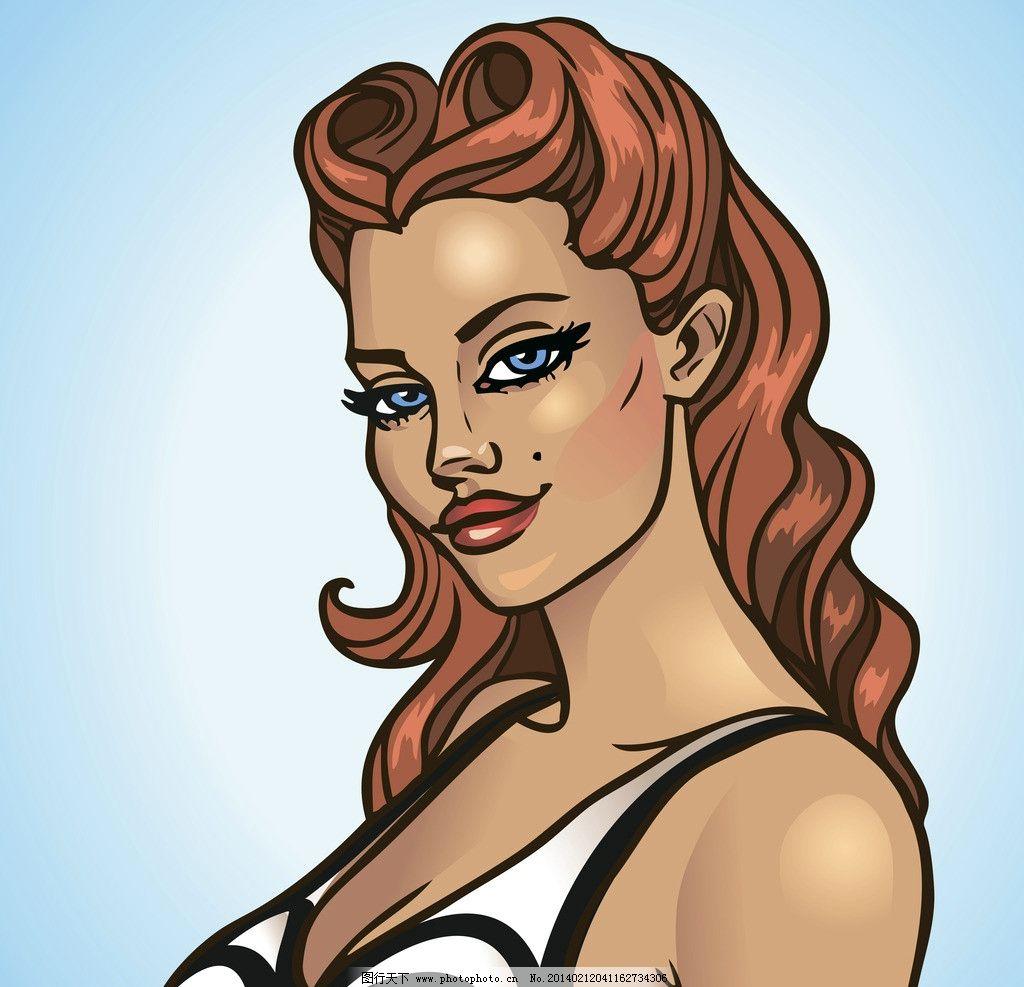 手绘美女 性感美女 少女 女人 人物 时尚女人 职业美女 动漫人物