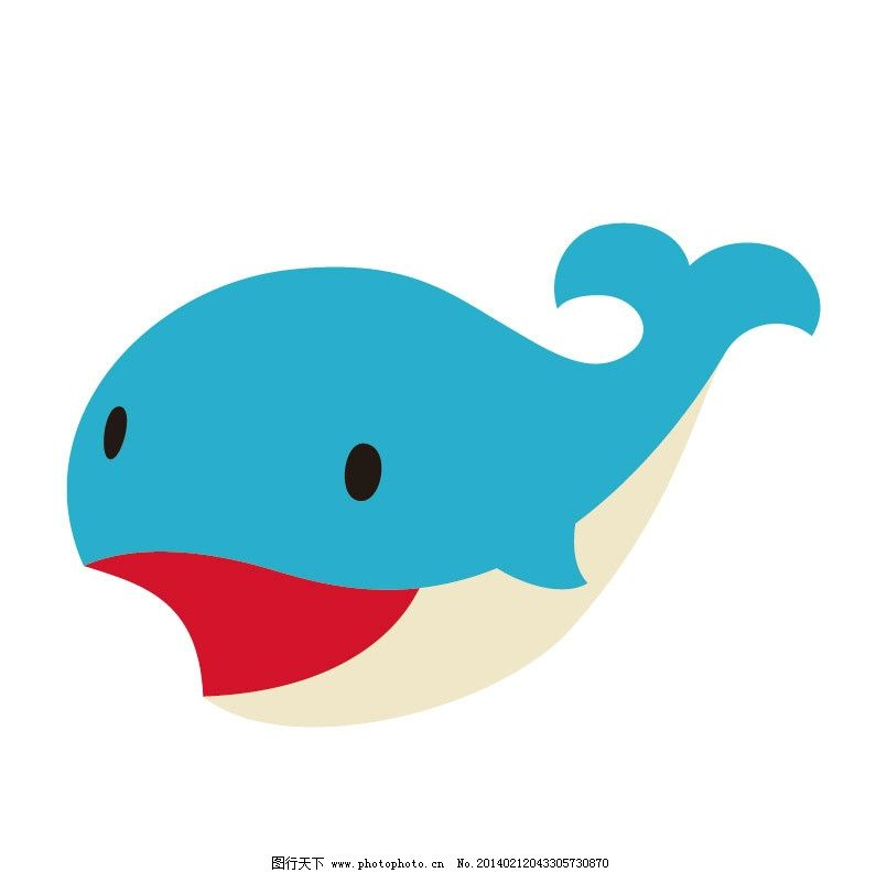 鲸鱼 卡通鲸鱼 蓝鲸 卡通动物 服装印花 儿童印花 儿童图集 卡通设计