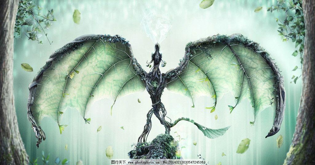 树藤 翅膀 设计 动物插画设计素材 动物插画 海报 300dpi jpg 科技