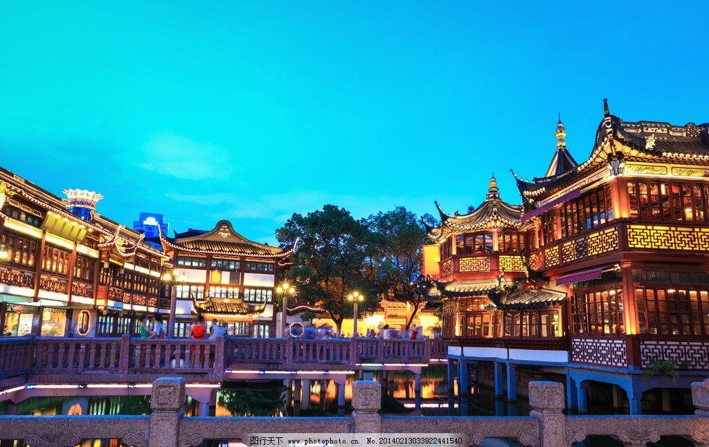 上海豫园景点景观照明