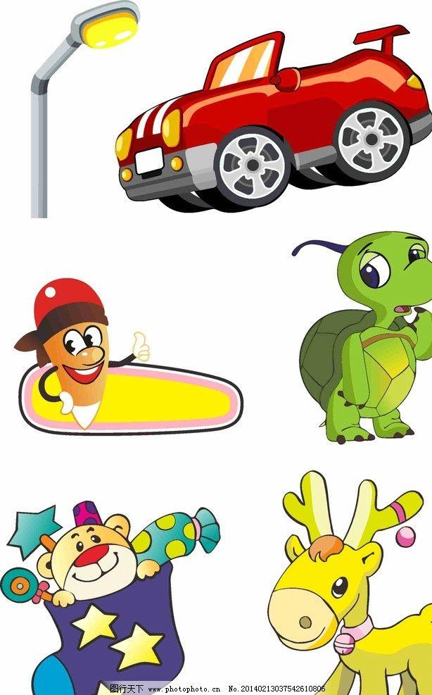 卡通动物汽车图片