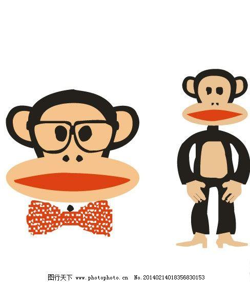 大嘴猴 猴 猴子 绅士 大嘴 大嘴猴卡通 卡通画 服装印花 儿童印花