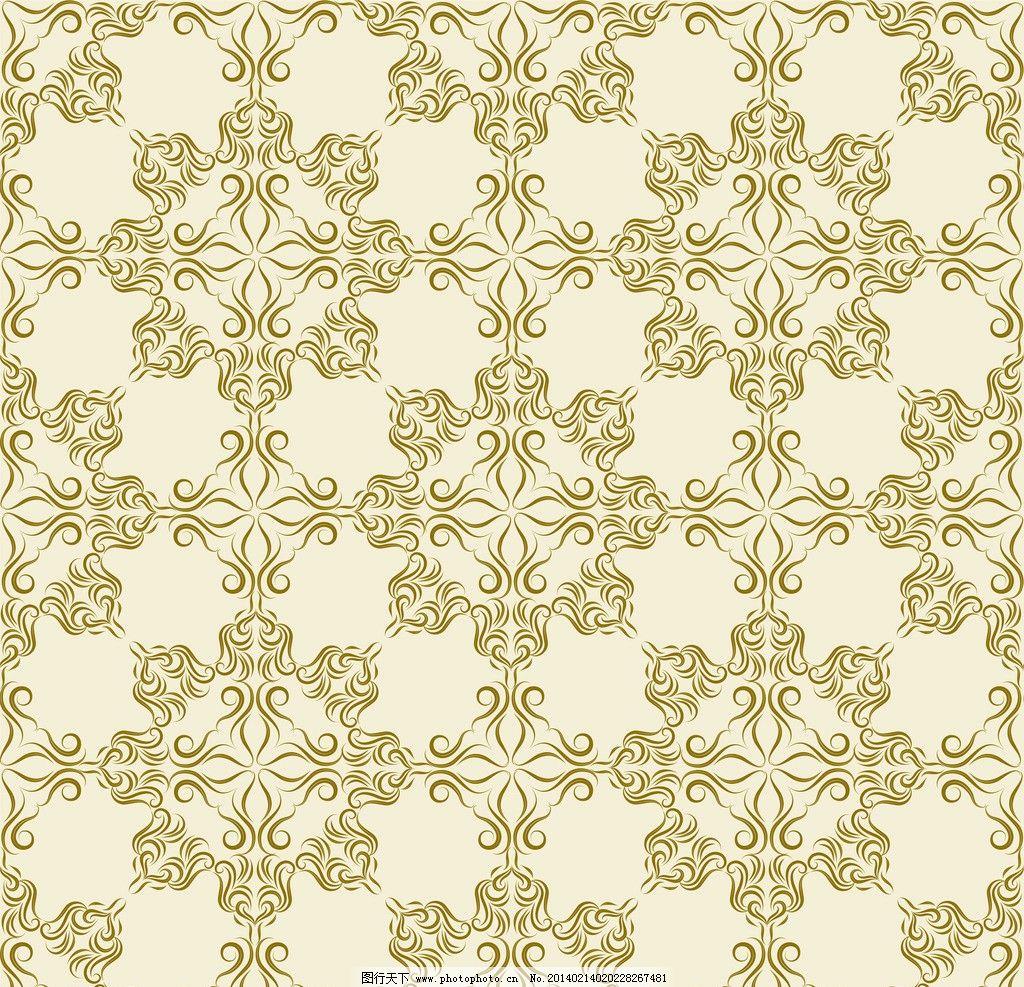 欧式花纹背景 手绘 复古 线条 建筑装饰花纹 植物花纹 民族装饰花纹